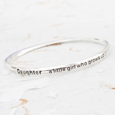 Mother and daughter message bracelet
