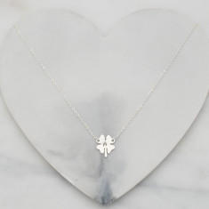 Personalised Lucky Four Leaf Clover Necklace