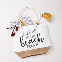 Take Me To The Beach Beach Bag