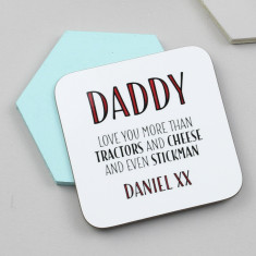 Personalised 'Love You More Than…' Coaster