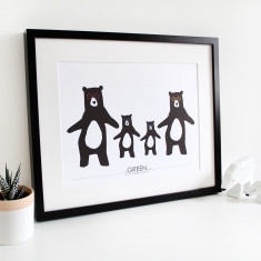 We love to boogie family bear print
