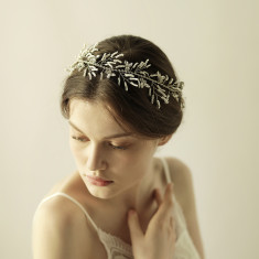 Boho Bridal Crystal Hair Crown