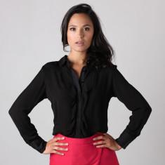 Zara Contrast Silk Blouse