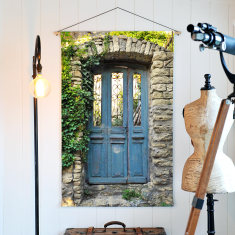 Menerbes Door Linen Wall Hanging