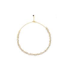 Sara Cluster Necklace With Aquamarine Mix