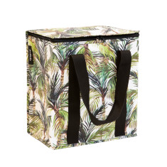 Insulated Cooler bag in Green Palm print