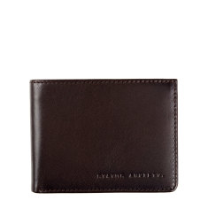 Walter leather wallet in chocolate