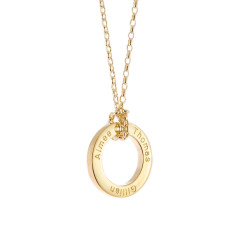 Babe Personalised Gold Loop Necklace