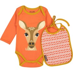 Deer onesie and bib set