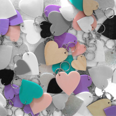 Heart key rings (various colours)