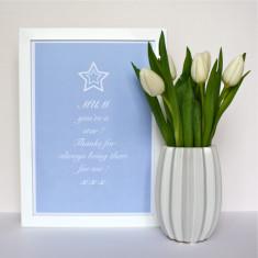 Star Mum Typography Print