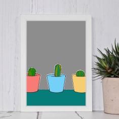 Three Little Cactus Print