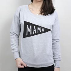 Mama Flag Scoop Neck Women's Sweater