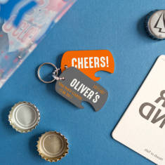 Personalised Stag Party Bottle Opener Keyring