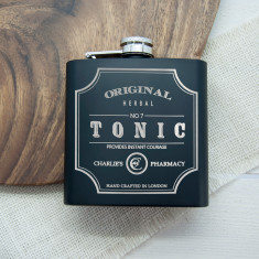 Personalised Tonic Vintage Hip Flask