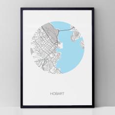 Hobart round print