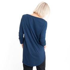 Three Quarter Sleeve Tailed Tee in Vintage Blue