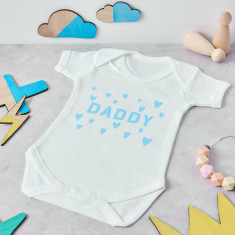 Personalised Daddy Hearts Babygrow
