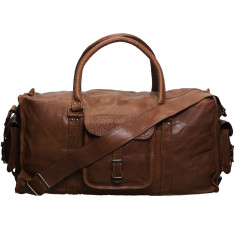 Tan 23 inch BA2 travel leather bag