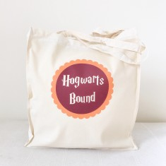 Hogwarts bound tote bag