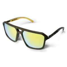 Fento wooden sunglasses in Legend Wengue Yellow