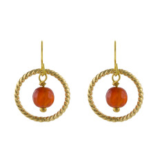 Orange baroque earrings