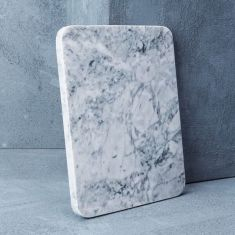 White with Grey Natural Marble Cheeseboard