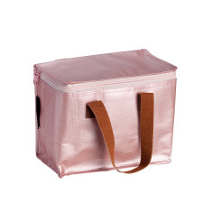 Insulated Lunch Box bag in Rose Gold print