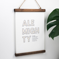 Witty Alemighty Definition Print