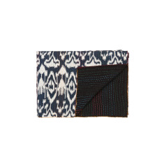 Ikat print kantha blanket (various colours)