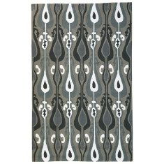 Ikat outdoor rug