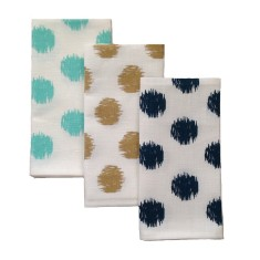 Ikat spot linen napkins (set of 4)
