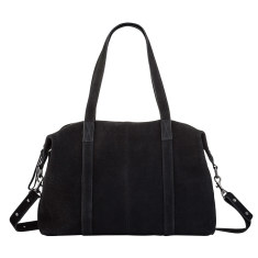 Fall of Hearts leather bag in black