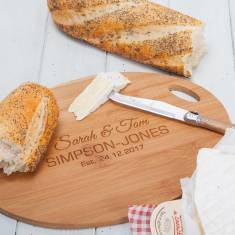 Personalised Oval Bamboo Chopping Board