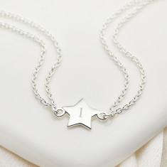 Personalised Sterling Silver Little Wish Star Bracelet