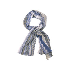 My Softest Cotton Scarf: Blue Aztec Print