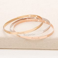 Personalised flat bangle