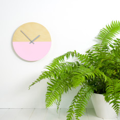 Half moon clock in blush pink