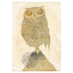 Geometric owl print