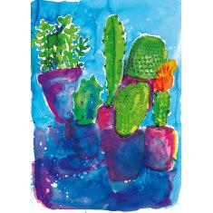 Cactus party print