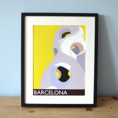 Barcelona Gaudi art print