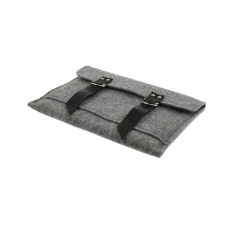 iPad felt case with black leather