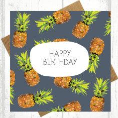 Pineapple birthday card