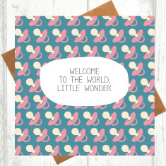 Welcome to the world little wonder new baby card