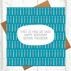 This is how we said happy birthday before Facebook card