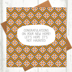 Let's hope it's not haunted new home card