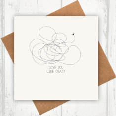 Love you like crazy card