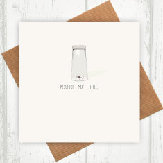 You're my hero valentines card