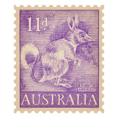 Rabbit Bandicoot Australian postage stamp wall sticker