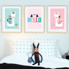Hello hello art prints (set of 3)
